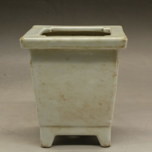 Collect Old Chinese Colour Porcelain Wintersweet Flower Square Calamus Flowerpot