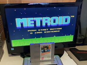 100-WORKING-NINTENDO-NES-RARE-5-SCREW-Game-Cartridge-Manual-METROID