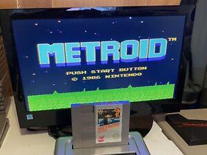 🔥100% WORKING NINTENDO NES RARE 5-SCREW Game Cartridge + Manual - METROID 🔥