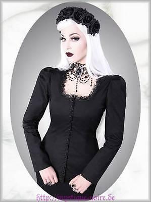 Viktorianisch Steampunk Bluse Stella schwarz Gothic Lolita Victorian Vintage