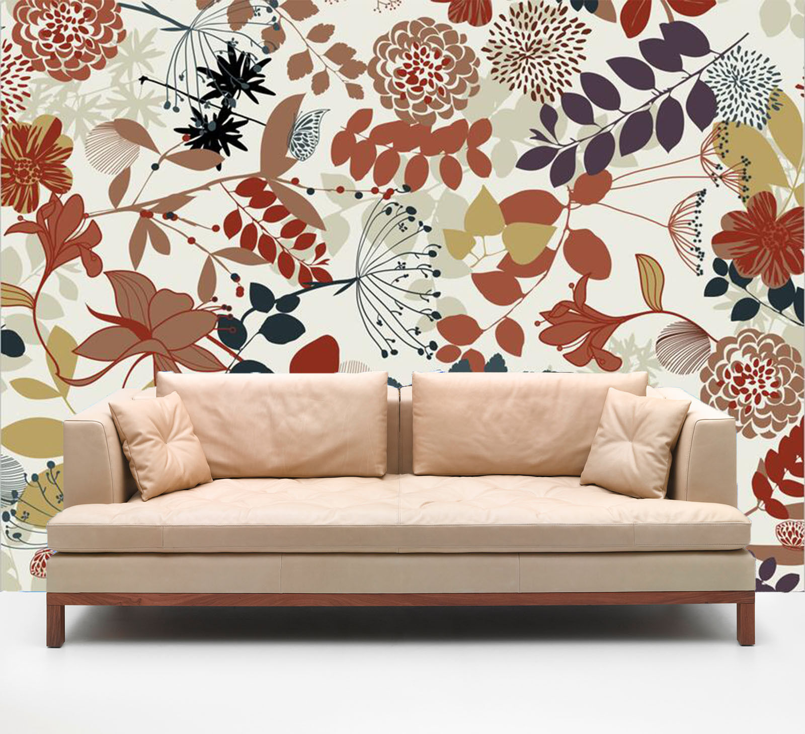 3D Autumn Leaves 7329 Wall Paper Wall Print Decal Wall Deco Indoor Wall
