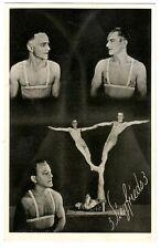 3 siegfrieds di artisti nel circo culturismo Muscle volte in Circus um1935 GAY INT
