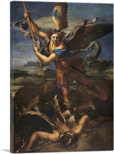 ARTCANVAS St Michael Vanquishing Satan 1518 Canvas Art Print by Raphael