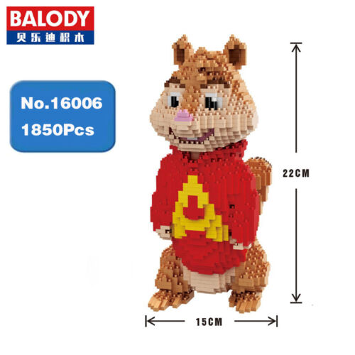 Balody 16006 Alvin and the Chipmunks Mouse Diamond Mini Building Nano Blocks Toy