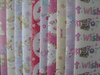 20 SHEETS OF GOOD QUALITY CUTE FEMALE ASSORTED BIRTHDAY WRAPPING PAPER