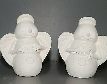 Snowflake Snowmen Snow Angels  *Ceramic Bisque Ready to Paint