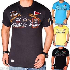 Herren-T-Shirt-Shirt-Sommer-Top-Qualitaet-Polo-Party-Rundhals-WOW-M-L-XL-XXL-NEU