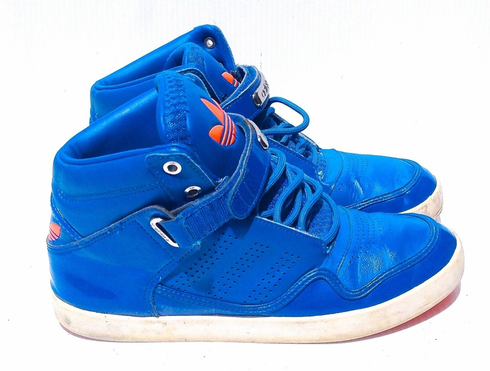 817f1d6b96267 ADIDAS ADIDAS ADIDAS MEN S BLUE BASKETBALL SHOES SZ 8 IN VERY GOOD+  CONDITION 024716