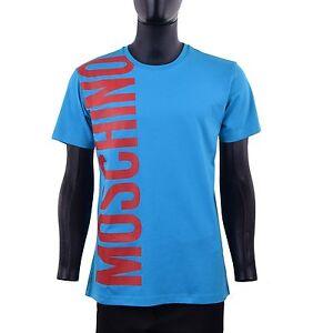 Bleu Slim Rouge Avec 05434 Logo T En Moschino Coton shirt Couture Fit wqxU4qZ0S