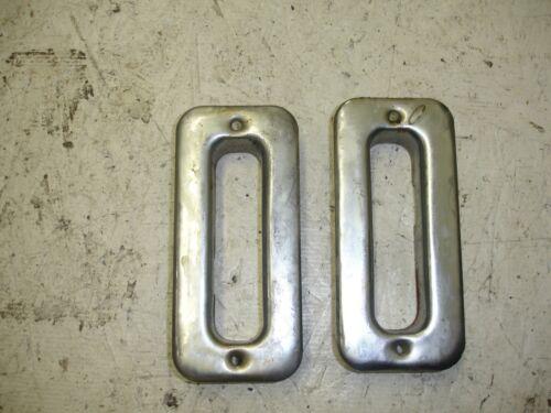 Chrome- Jimmy Blazer K5 OEM Chevy GMC Rear Seat  Latch Covers 88-91 73-87