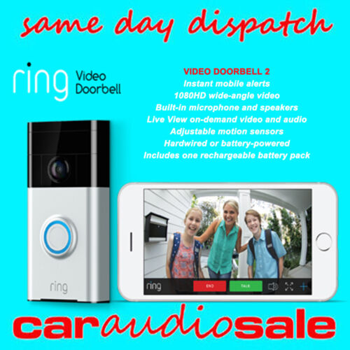 RING VIDEO DOORBELL2 MOTION ACTIVATED 1080P VIDEO 2WAY TALK CAMERA HOME SECURITY