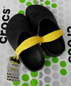 81652d1c3adc1f CROCS KIDS CAYMAN BATMAN BEACH CLASSIC DUET CLOG SHOE~Black Yellow ...