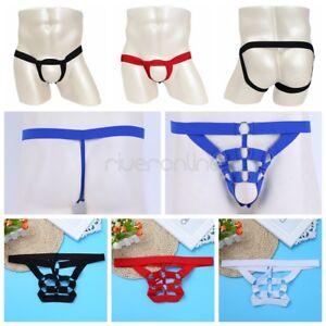 Sexy-Herren-Dessous-G-String-Bikini-T-back-elastisches-String-Tanga-Unterwaesche