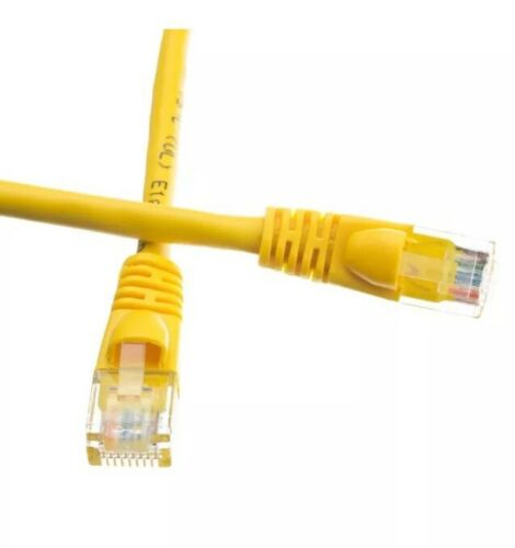 Network Wire RJ45 LAN 2-Pack 6FT Cat5e Cat5 Yellow Ethernet Cable