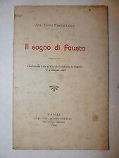 Allegoria, Luigi Parpagliolo: Il Sogno di Fausto Conferenza Napoli 1899 Hesperia