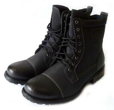 New Men's Premium Military Style Combat Lace-up Leather Lining Boots Rubber Sole