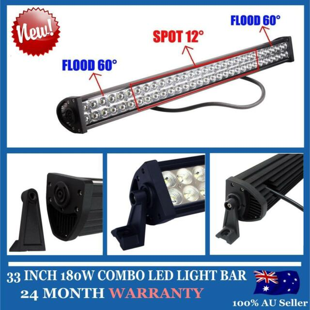 "33"" 180W FLOOD SPOT LED ALLOY WORK LIGHT BAR 4WD BOAT UTE DRIVING SAVE ON 240W"
