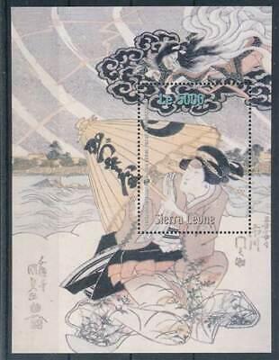 265201) Sierra Leone Bl.571** Geister U. Dämonen In Der Jap. Kunst