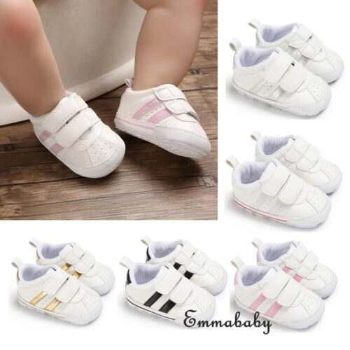 0-18M Baby Boy Girl Anti-slip Soft Sole Crib Shoes Newborn Sneakers Prewalkers