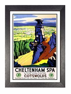 Cheltenham Spa Aventure Voyage Vacances Beau Vue Affiche Cotswolds Publicité