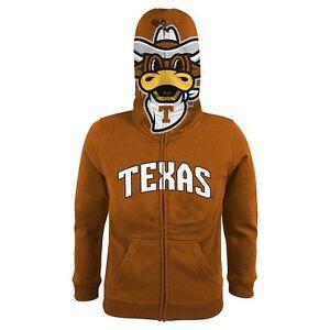 NIKE Texas Longhorns NCAA Hoodie Jacket Boys Orange White Size 16 18  NWT