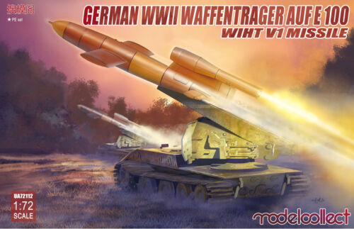 Modelcollect UA72112-1:72 German WWII E-100 panzer weapon carrier with V1 Miss