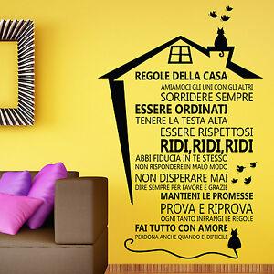 Regole della casa adesivi da muro decorazioni per la casa for Regole per casa