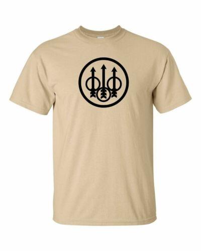 CERCHIO BERETTA Nero Logo T-shirt 2nd Emendamento Pro Gun pistola fucile dei diritti Tee