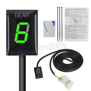 Green-LED-Gear-Display-Indicator-For-Kawasaki-ER6N-Ninja-300-ZX6R-ZX10R-Z800-US