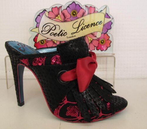 Poetic Scarpa Pink donna Irregular License con Black tacco Moscow Bow Choice By Mule da r0r4qzwP