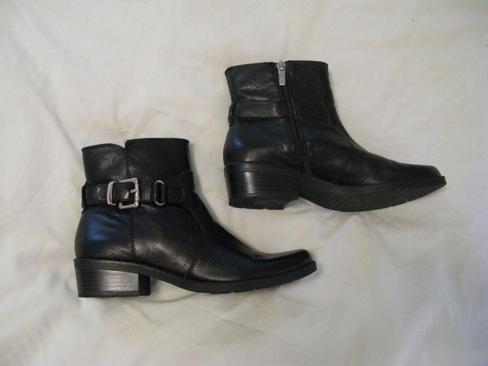 Anne Klein 'Liana' Ankle Boot Sz 7 M Black Leather - Gorgeous Style! Rare & HTF