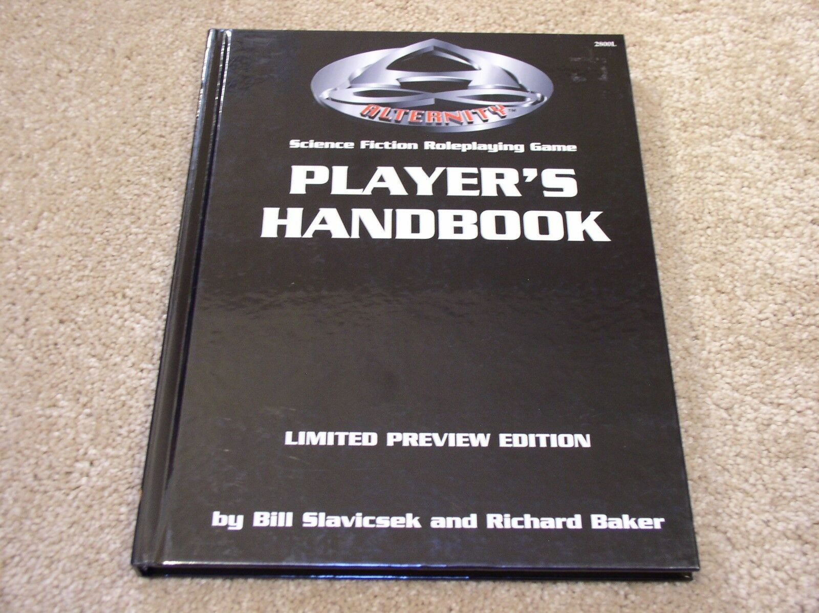 TSR Alternity Player's Handbook Limited Preview Edition