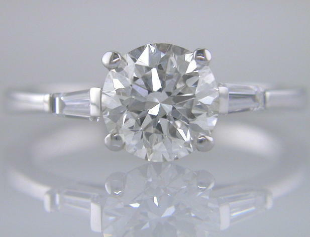 Diamond Ring 1.90ct Certificated D IF Brilliant Cut 18ct White gold Engagement