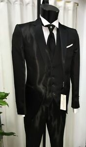 Suit Cerimonia Firmato Unito Pignatelli Sposo Nero Wedding Abito Uomo Carlo qwZ088