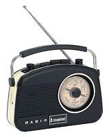 STEEPLETONE BABY BRIGHTON VINTAGE.RETRO DESIGN PORTABLE RADIO BLACK (NEW)