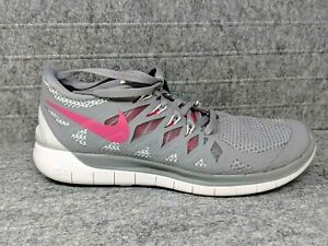 new concept 2c080 ef6d0 Details about Nike Free 5.0 Gray Pink 642199-006 Light Weight Running Shoes  Womens Size 7.5