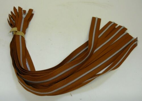 """APPAREL FASTENERS MSN1209 UNKNOWN BRAND 24/"""" LONG BROWN LOT OF 10"""