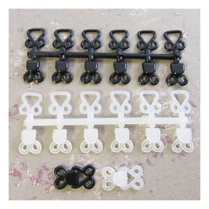 6-x-BLACK-or-WHITE-STURDY-PLASTIC-HOOK-AND-EYE-FASTENERS-SKIRT-SEW-ON-EXTENDERS