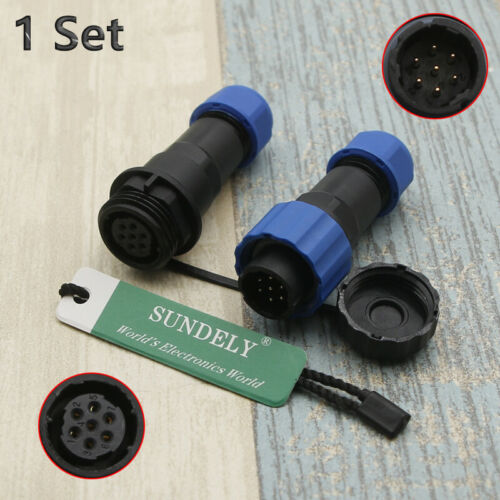 SP16 IP68 2Pin-9Pin Waterproof Connector Circular Air Plug Socket Male /& Female