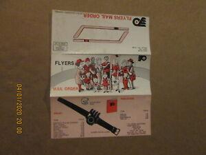 NHL Philadelphia Flyers Vintage Circa 1970's Team Logo Mail Order Brochure