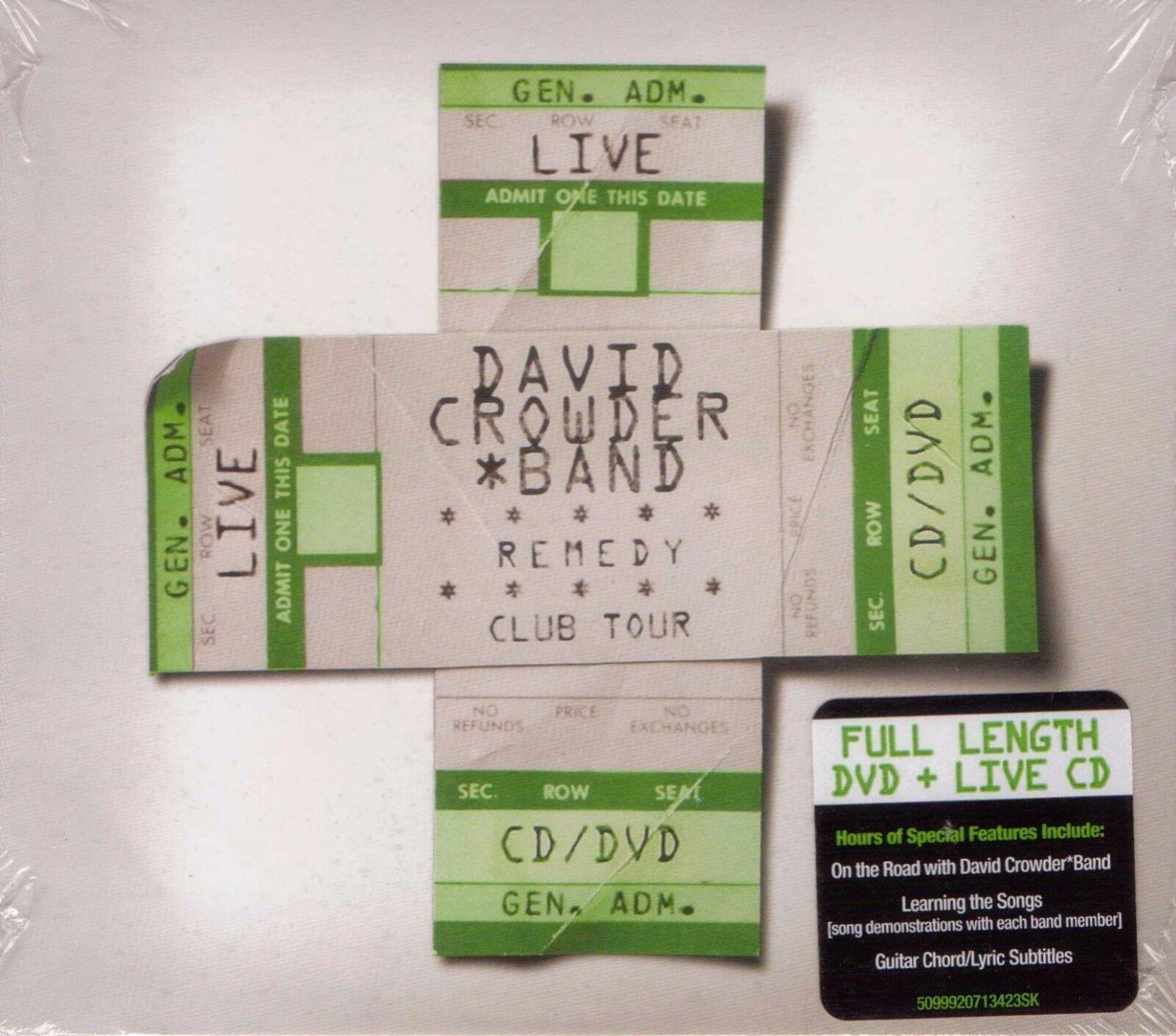 Crowder Band David Remedy Club Tour Edi Cd Ebay
