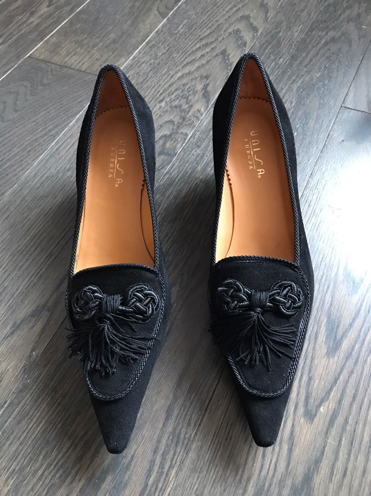 New Unisa Women Black Suede Shoes Size 37 7