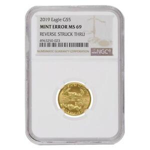2019-1-10-oz-5-Gold-American-Eagle-NGC-MS-69-Mint-Error-Rev-Struck-Thru