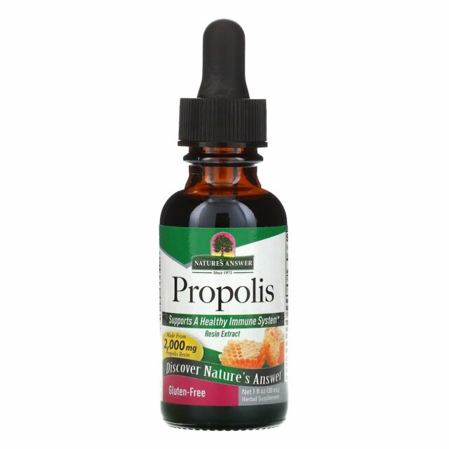 Nature s Answer Propolis 2 000 mg 1 fl oz 30 ml Alcohol-Free, Gluten-Free