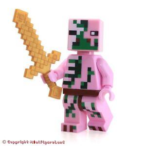 Das Bild Wird Geladen Lego Minecraft Minifigur Zombie Schweine Mann Set 21122