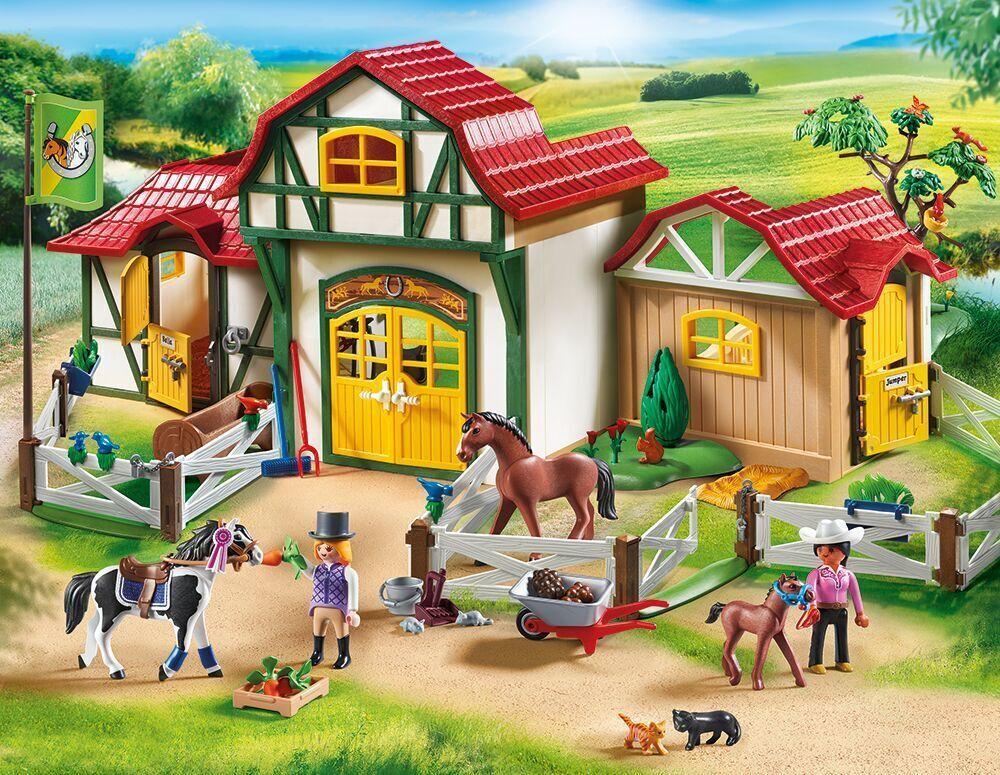 PLAYMOBIL® 6926 Großer Reiterhof - Club d'équitation - Horse Farm