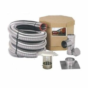 Smoothwall Double Ply Stainless Steel Chimney Liner Kit