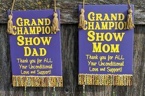 Grand Champion Livestock Show Mini Wood Banner Show Mom Or Show Dad Ebay