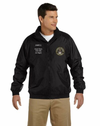 US Air Force Personalized Custom Embroidered Fleece Jacket NWT