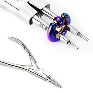 Edelstahl Piercingzange 4 Kerben Nadel Nase Ringöffner Zange Piercing Ring Groß SchöN In Farbe